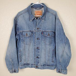 Levi Strauss Standard Trucker Denim Jean Jacket L